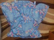 НОВЫЙ ночной комплект (пижама,  халат) рр 46-48 80298546225